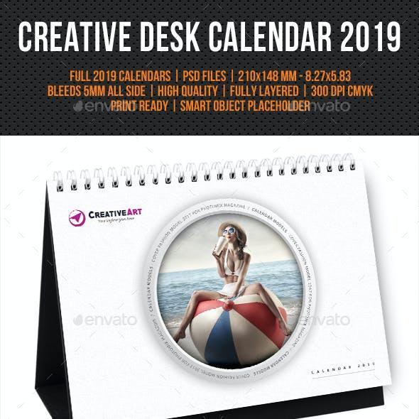 Creative Desk Calendar 2019 V29