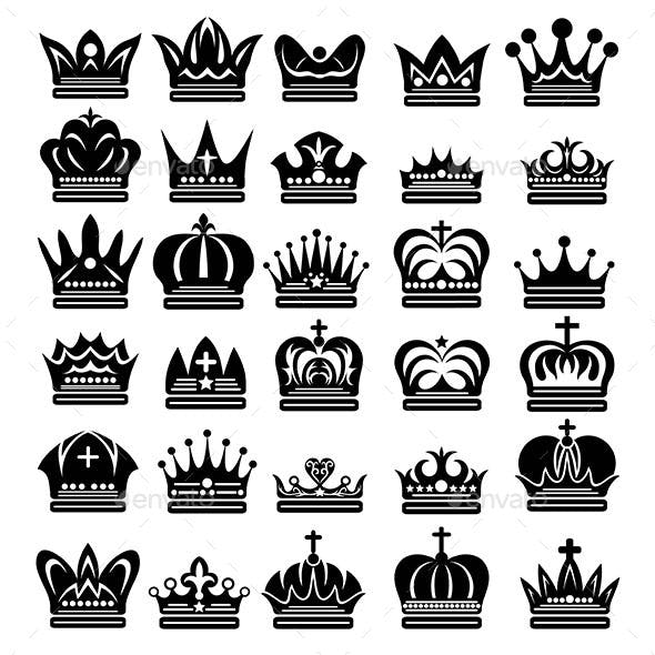 Beauty Crown Silhouettes