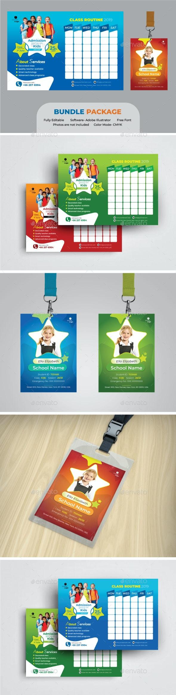 School Bundle - Stationery Print Templates