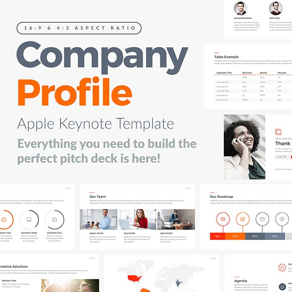 Company Profile Apple Keynote Template