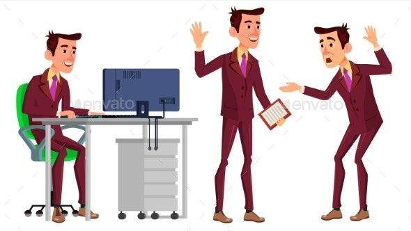Businessman Office Worker Vector - People Characters