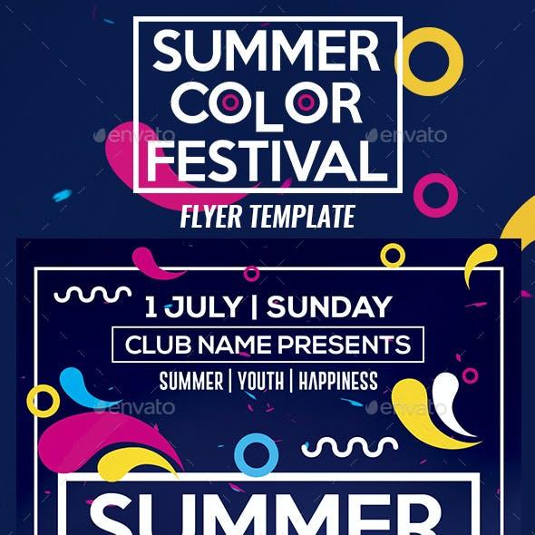 Summer Color Fest 2018 Flyer Template