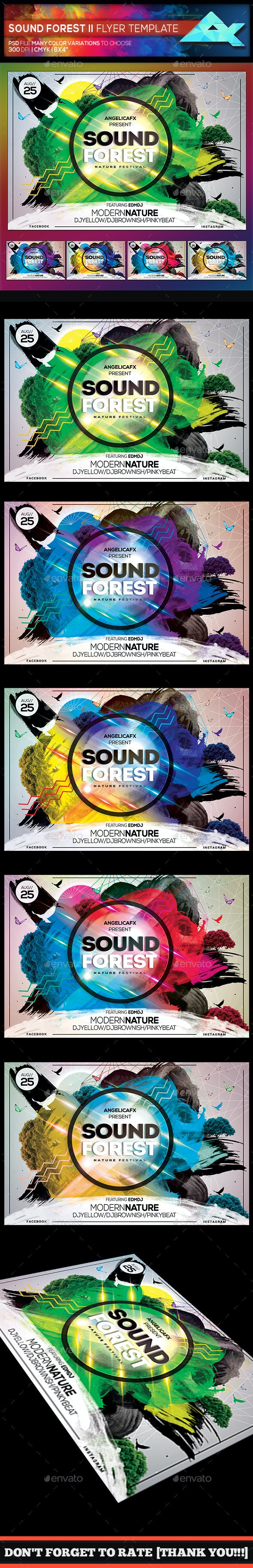 Sound Forest II Photoshop Flyer Template - Events Flyers