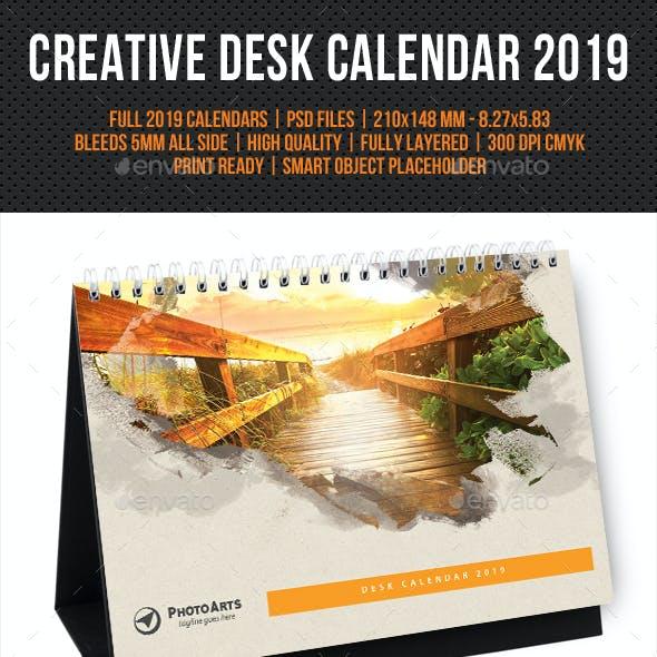 Creative Desk Calendar 2019 V23