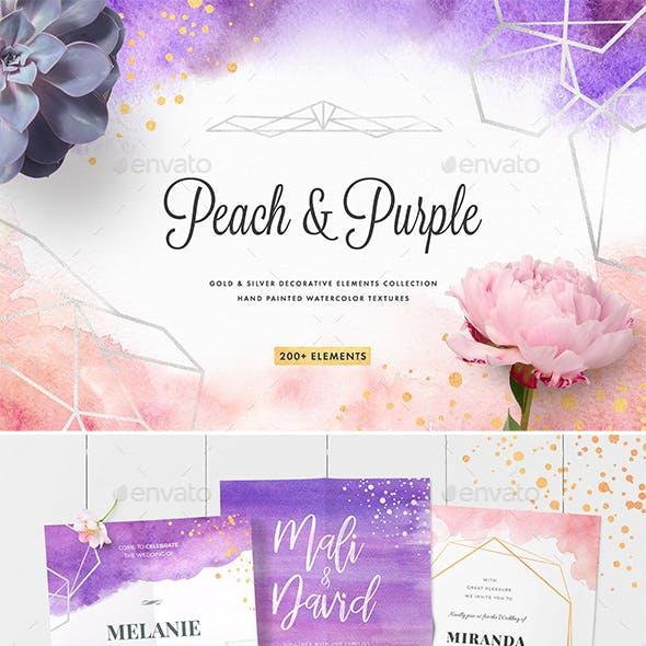 Peach & Purple Decor Collection