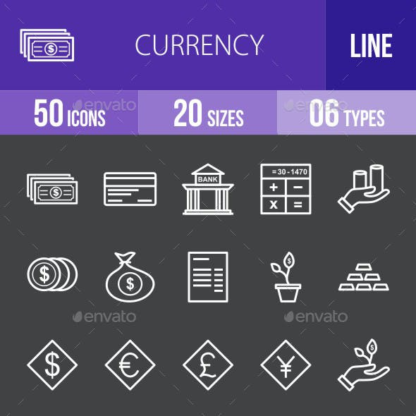 Currency Line Inverted Icons