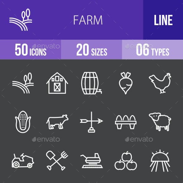 Farm Line Inverted Icons