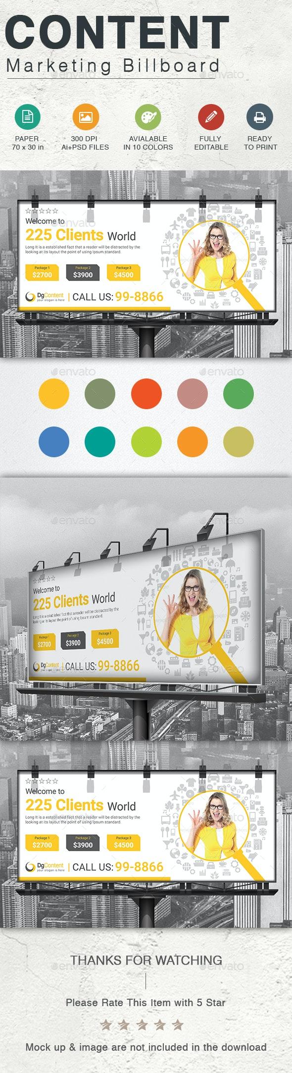 Content Marketing Billboard - Signage Print Templates