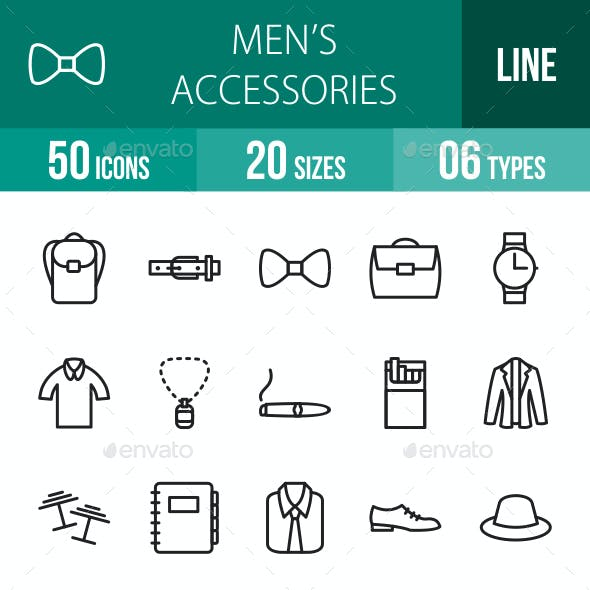 Men's Accessories Line Icons