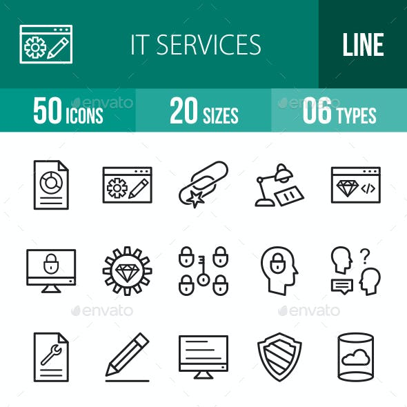 IT Services Line Icons