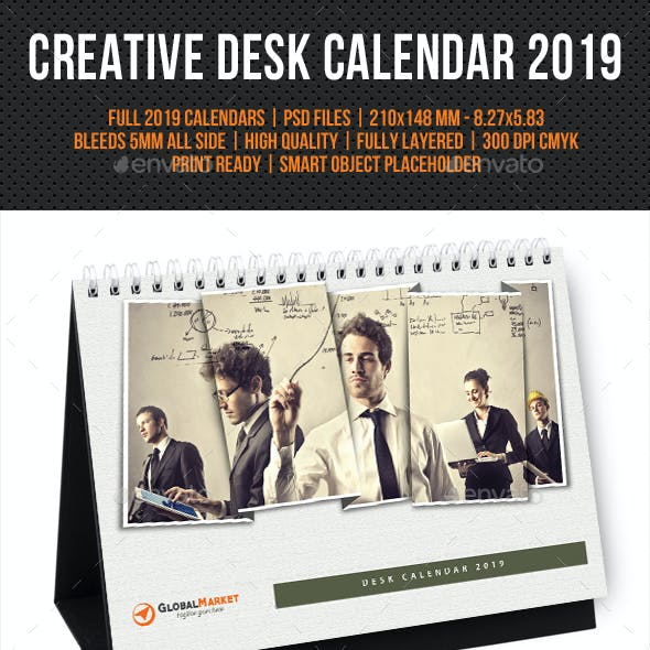 Creative Desk Calendar 2019 V24