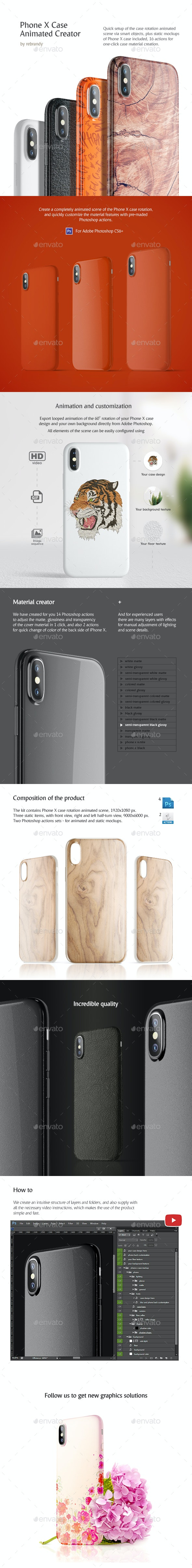 Phone X Case Animated Creator - Mobile Displays