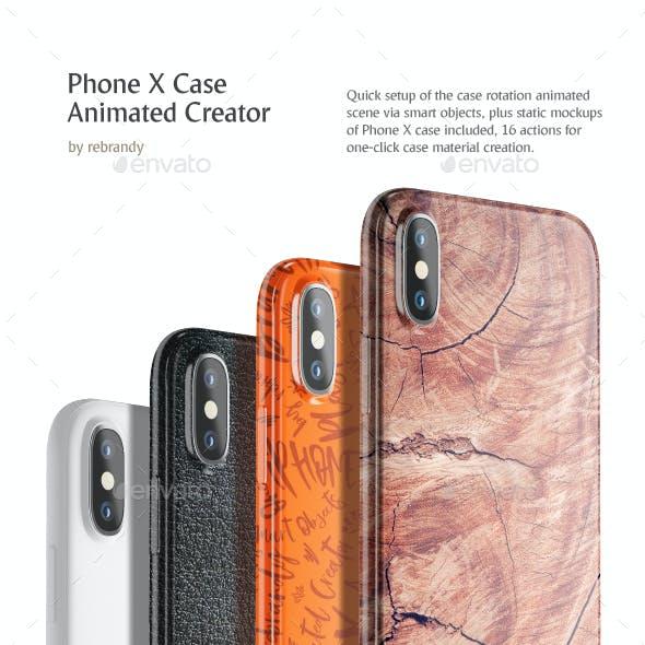 Phone X Case Animated Creator