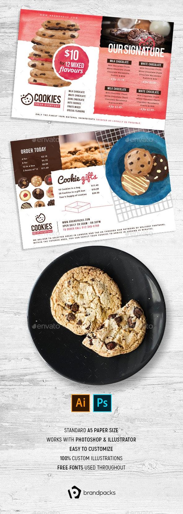Cookie Shop Flyers - Restaurant Flyers