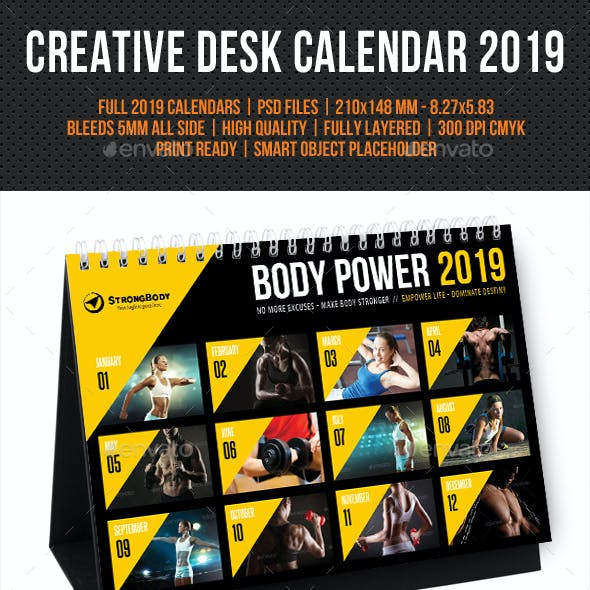 Creative Desk Calendar 2019 V30