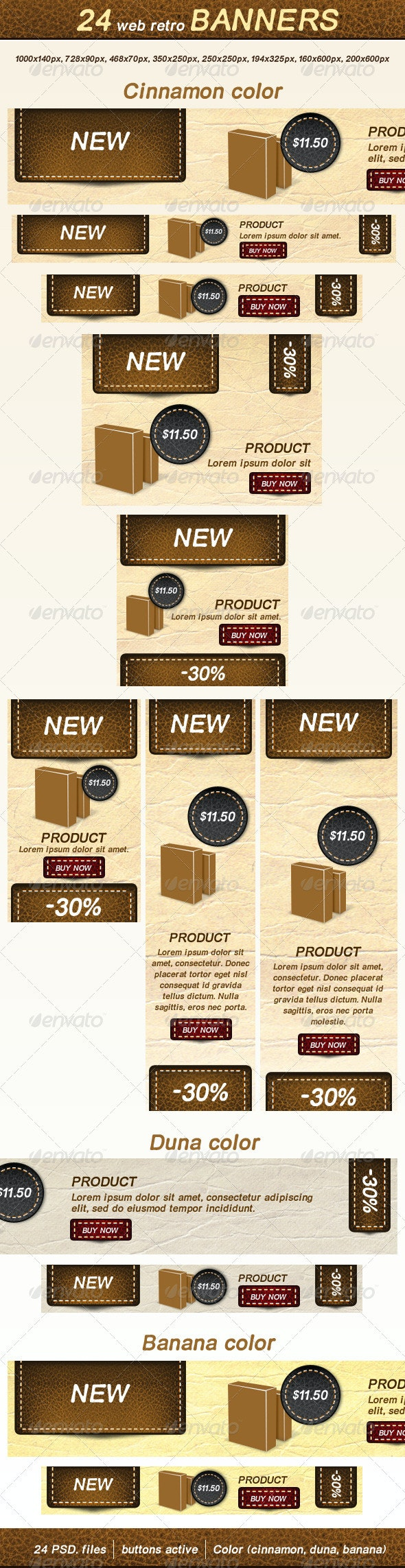 Web Retro Banners - Banners & Ads Web Elements