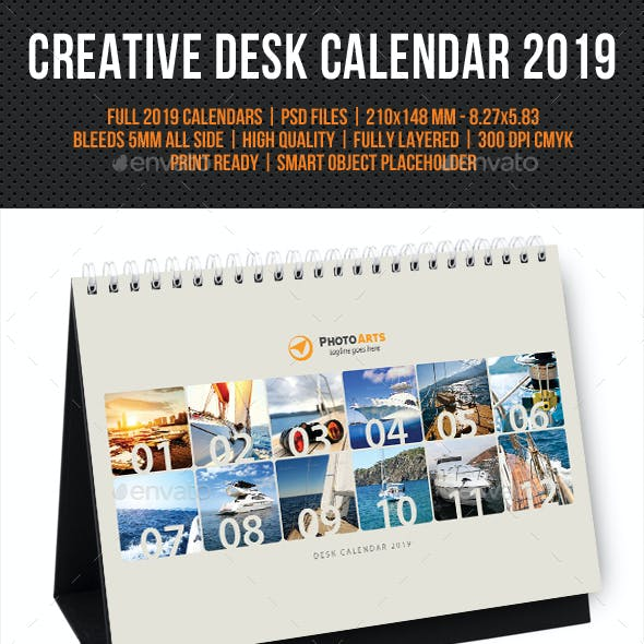 Creative Desk Calendar 2019 V28