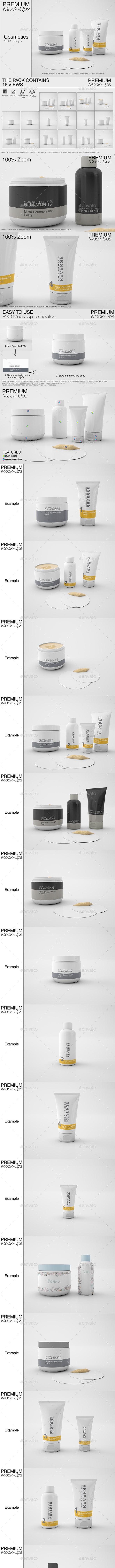 Cosmetics Mockup Pack - Print Product Mock-Ups