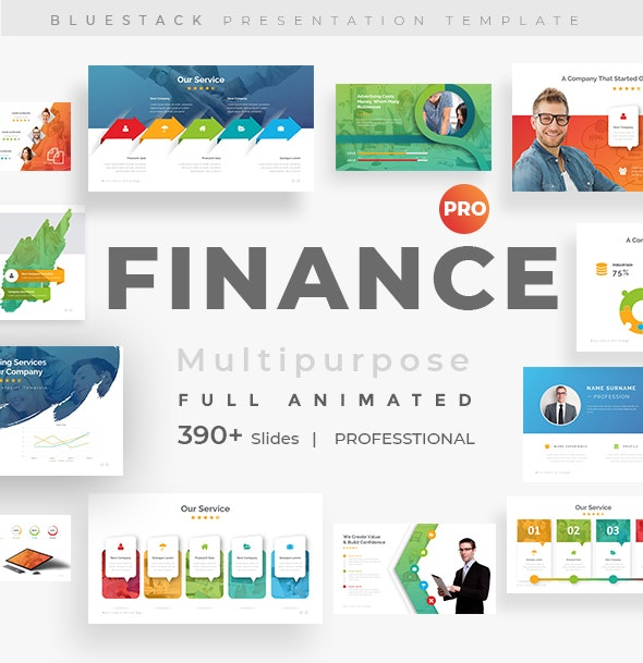 Finance Fully Animated Pitch Deck Keynote Template - Business Keynote Templates
