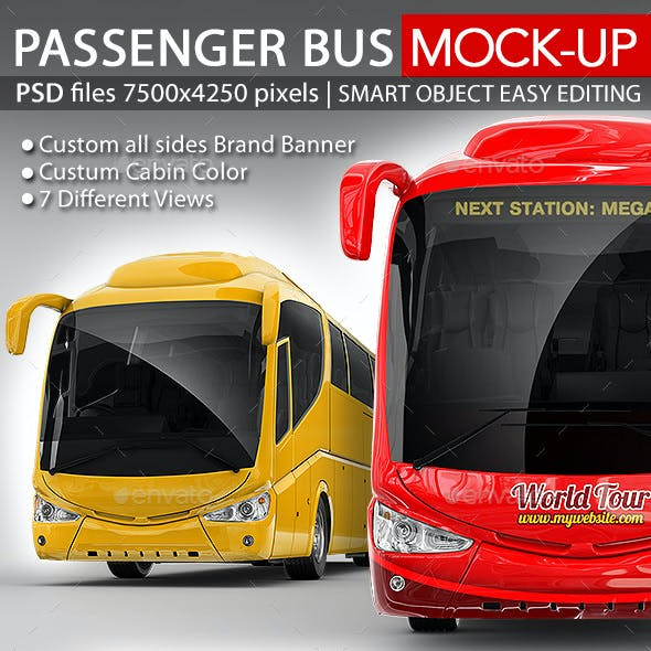 Tourist Bus, Passenger Coach Mock-Up