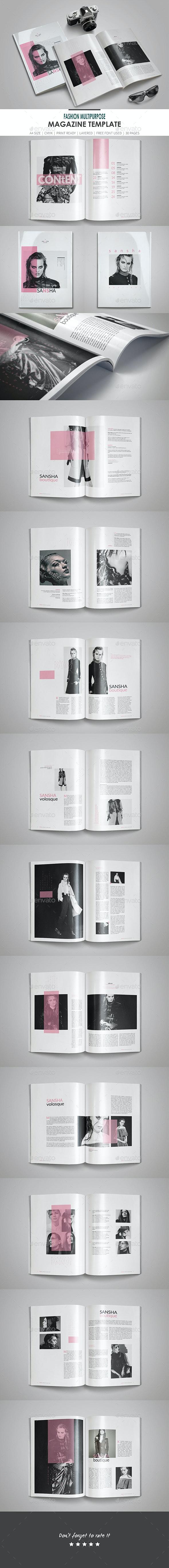 Fashion Multipurpose Magazine Template - Magazines Print Templates