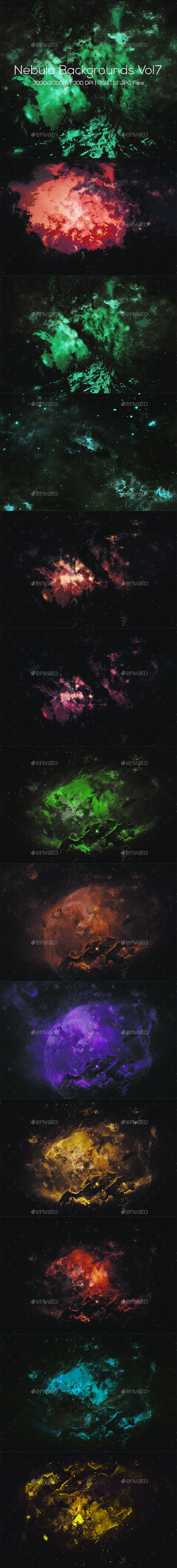 Nebula Backgrounds Vol7 - Abstract Backgrounds