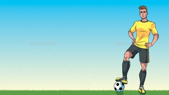 Football Player Background - Sports/Activity Conceptual