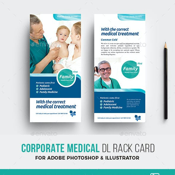 Corporate Medical DL Card Template