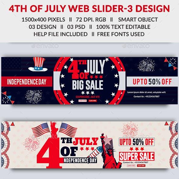 4th of July Web Slider - 3 Design- Image Included
