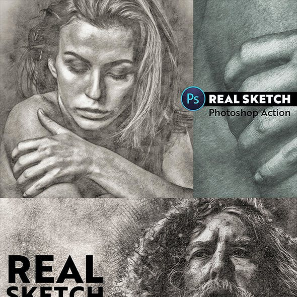 Real Sketch Pro Photoshop Action