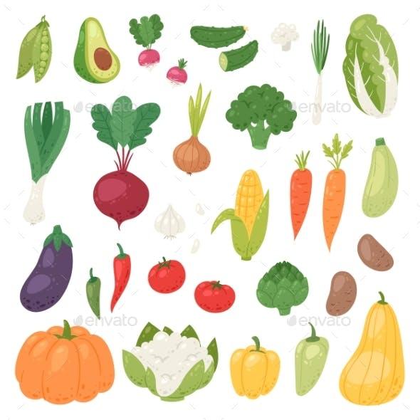 Vegetables Vector Healthy Nutrition of Vegetably