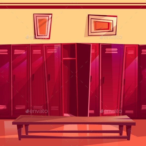 Locker Room Gym Seamless Vector Illustration - Miscellaneous Vectors