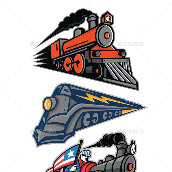 Vintage Steam Locomotive Mascot Collection