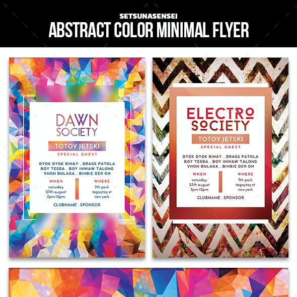 Abstract Color Minimal Flyer