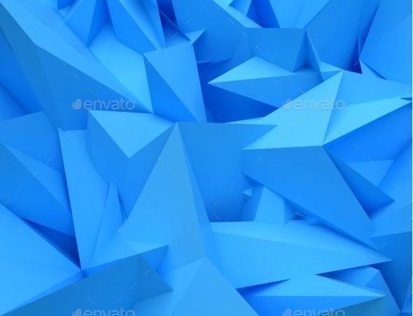 3D Abstract Background. Illustration of Geometric - 3D Backgrounds