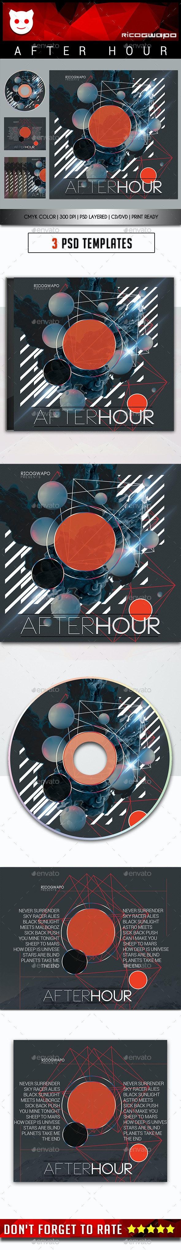After Hour Cd/DVD Template - CD & DVD Artwork Print Templates