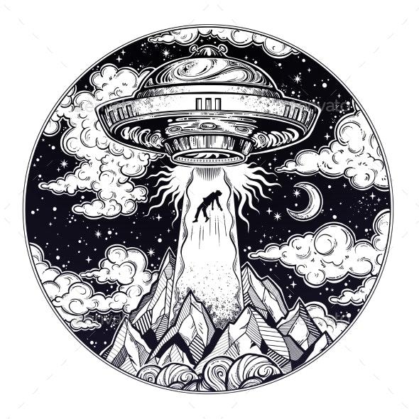 Alien Spaceship UFO Abduction - Miscellaneous Conceptual