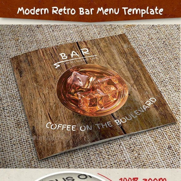 Modern Retro Bar Menu Template