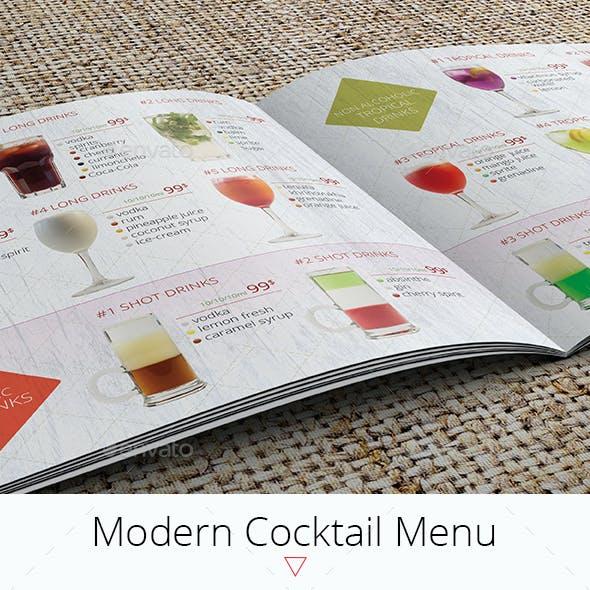 Modern Cocktail Menu Template