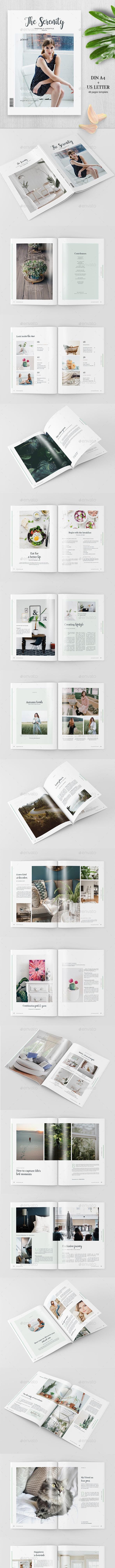 Serenity - Clean Magazine Template - Magazines Print Templates