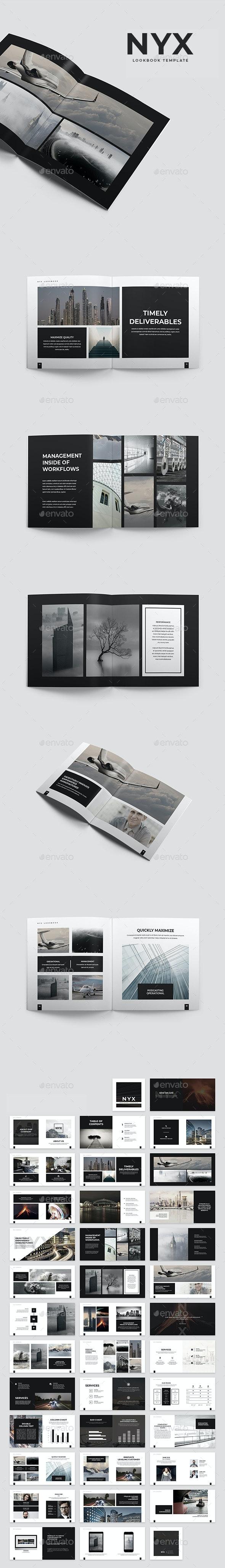 Nyx Lookbook Template - Portfolio Brochures