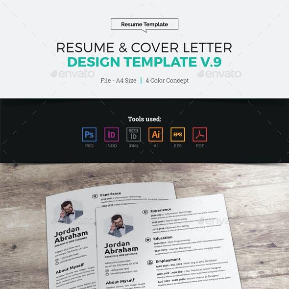 Resume & Cover Letter Design v9