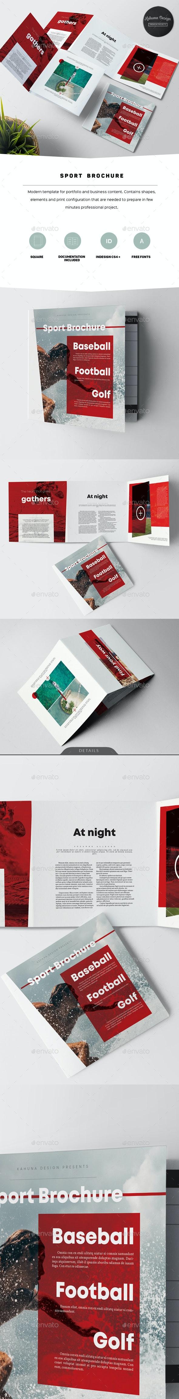 Sport Square Trifold Brochure - Informational Brochures