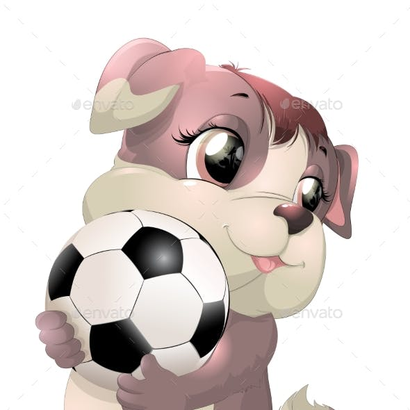 Dog with Soccer Ball