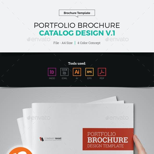 Portfolio Brochure Catalog Design v1