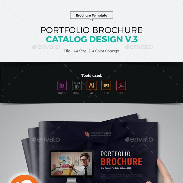 Portfolio Brochure Catalog Design v3