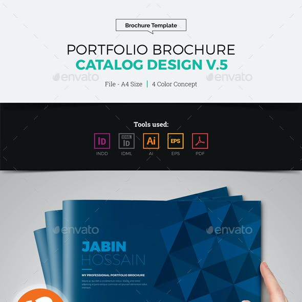 Portfolio Brochure Catalog Design v5