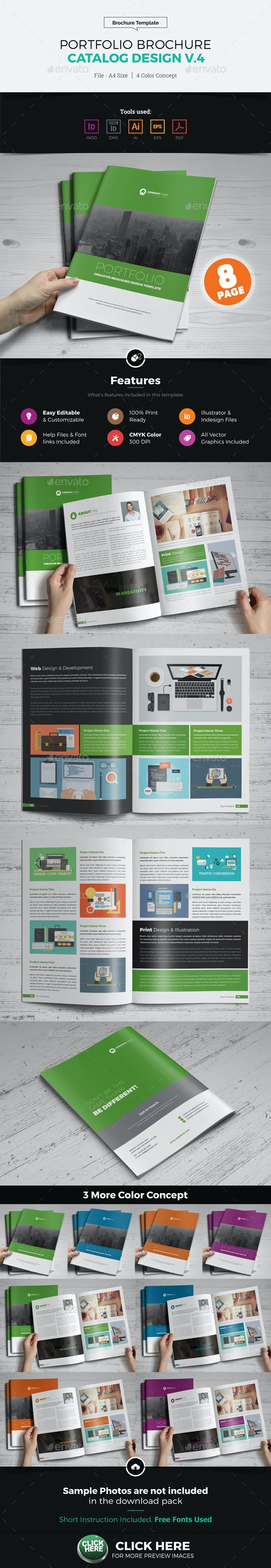 Portfolio Brochure Catalog Design v4 - Corporate Brochures