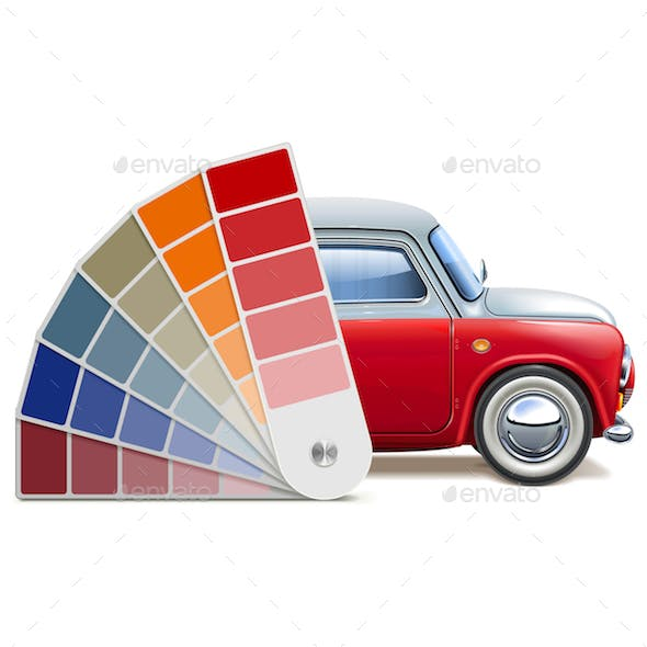 Vector Color Palette for Automobile