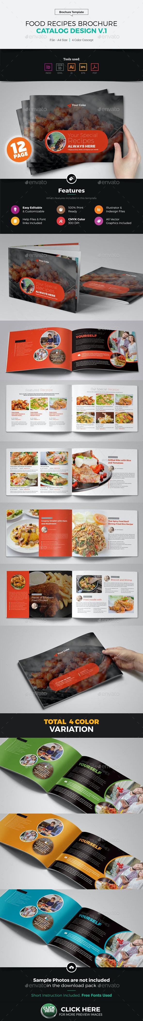 Food Recipes Brochure Catalog Design v1 - Corporate Brochures